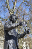 Nelson Mandela Statue in Parliament Square, London Stock Image