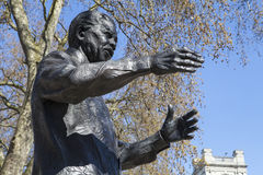 Nelson Mandela Statue in Parliament Square, London Stock Images