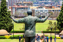 Nelson Mandela Statue in Pretoria South Africa royalty free stock photography