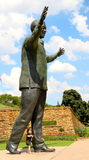 Nelson Mandela statue. Tribute to Nelson Mandela at Pretoria for what he did for Blacks rights in South Africa Royalty Free Stock Images