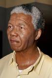 Nelson Mandela Wax Figure. Nelson Rolihlahla Mandela wax figure in Madame Tussauds Wax Museum - Vienna Stock Photos