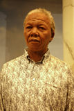 Nelson Mandela Wax Figure. A wax figure of former South African President Nelson Mandela at Madame Tussauds in New York City Stock Photo