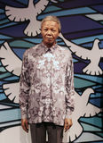 Nelson Mandela wax figure. At Madamme Toussaud's museum in London, UK stock image