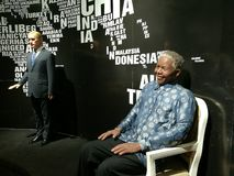 Nelson Mandela wax statue on display at Ba Na Hills Royalty Free Stock Photos