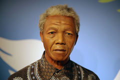 Nelson Mandela wax statue. Waxwork statue of Nelson Rolihlahla Mandela, a South African anti-apartheid revolutionary, politician, and philanthropist, who served Royalty Free Stock Images