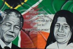 Nelson Mandela y Bobby Sands, Derry, Irlanda del Norte Imagen de archivo
