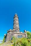 Nelson Monument à Edimbourg Photographie stock