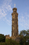 Nelson monument on Calton Hill in Edinburgh Stock Image