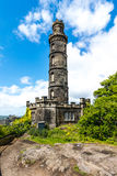 Nelson monument on Calton Hill Edinburgh Royalty Free Stock Images