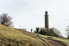 Nelson Monument on Calton Hill  in Edinburgh Royalty Free Stock Photo