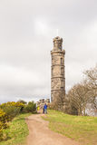 The Nelson monument on Calton Hill Royalty Free Stock Images