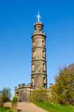 Nelson Monument in Edinburgh, Scotland Stock Photos
