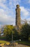 Nelson Monument in Edinburgh Stock Photos