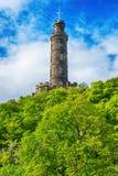Nelson Monument sur la colline de Calton à Edimbourg en Ecosse Image libre de droits