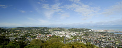 Nelson, New Zealand. This image shows a panoramic view of Nelson, New Zealand stock image