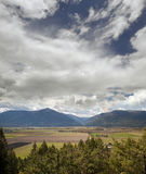 Nelson Range and fields by Creston Royalty Free Stock Image