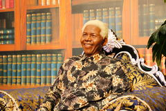 Nelson Rolihlahla Mandela, wax statue, wax figure, waxwork Royalty Free Stock Images