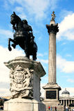 Nelson's Column dominates Trafalgar Square Royalty Free Stock Images