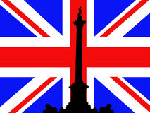 Nelson's Column and flag Stock Images