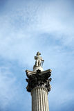 Nelson's Column in Trafalgar Square Stock Image