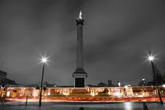 Nelson's Column in Trafalgar Square Royalty Free Stock Photography