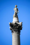 Nelson s Column in Trafalgar Square Royalty Free Stock Photo