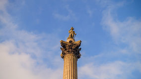 Nelson's column in Trafalgar Square Stock Images