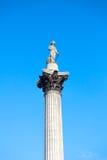 Nelson's Column in Trafalgar Square London Stock Photos