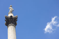 Nelson's Column, Trafalgar Square, London, England Royalty Free Stock Image