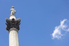 Nelson's Column, Trafalgar Square, London, England Royalty Free Stock Image