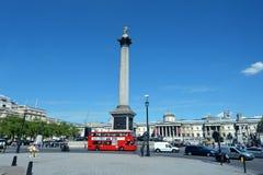Nelson's Column in Trafalgar Square London Stock Images