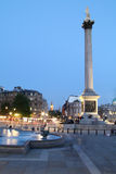Nelson's Column at Twilight Royalty Free Stock Photos