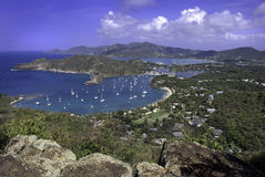 Nelson's Dockyard. Antigua. Taken from Shirley Heights Royalty Free Stock Images