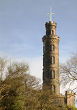 Nelson's monument. On Calton Hill in Edinburgh, Scotland stock photo