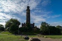 Nelson-` s Monument auf Calton-Hügel in Edinburgh, Schottland Stockfoto