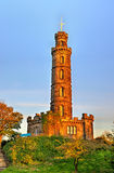 Nelson's Monument on Calton Hill Royalty Free Stock Image