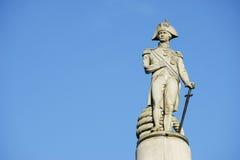 Nelson Statue Arkivfoton