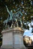 Nelson Statue außerhalb Notre Dames Stockfotos