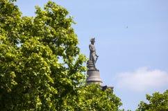 Nelson Statue sur la colonne de Nelsons à Londres Photos libres de droits
