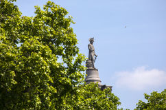 Nelson Statue on top of Nelsons Column in London Royalty Free Stock Photos