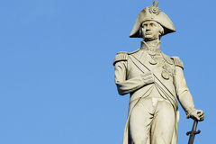 Nelson statue Stock Images