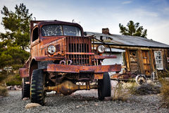 Old rusty truck in Nelson Ghost town, USA royalty free stock images