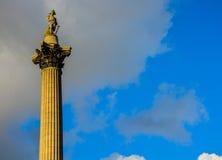 Nelsons专栏-特拉法加广场 免版税图库摄影