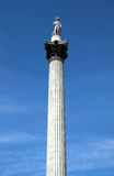 Nelsons Column. Rises to nearly 185 feet in the centre of Trafalgar Square and was erected to celebrate his great victory at Trafalgar over Napoleon in 1805 Royalty Free Stock Photography
