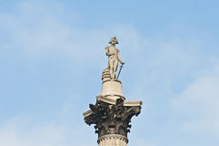 Nelsons Column at London, England royalty free stock images