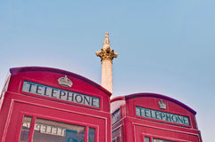Nelsons Column at London, England royalty free stock image