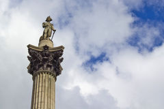 Nelsons Column on Trafalgar Stock Photos
