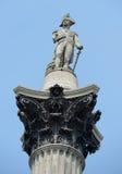 Nelsons Column, Trafalgar Square Stock Image