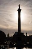 Nelsons Spalte, Trafalgar-Platz, London Stockbild