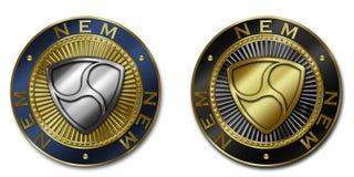 NEM moeda do cryptocurrency Ilustração do Vetor